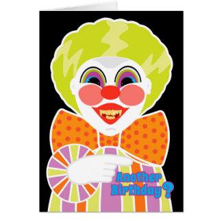Cartão Obtenção assustador do aniversário assustador do