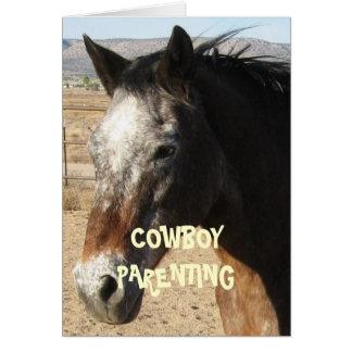 Cartão Obtenção mais velho e mais sábio - parentalidade