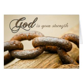 Cartão Obtenha a força boa