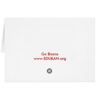 Cartão Obtenha a seu EDDIE o BISONTE cartão/envelope