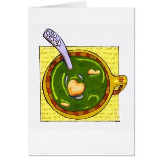 """Cartão """"obtenha a sopa boa """""""