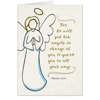 Cartão Obtenha bem, ele prá seus anjos responsável de