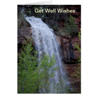 Cartão Obtenha desejos bons