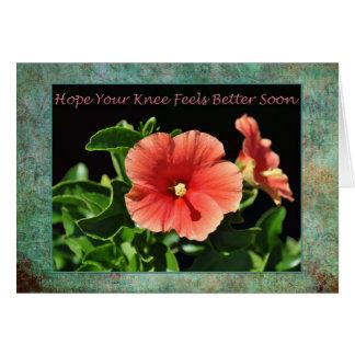 Cartão Obtenha logo a cirurgia boa do joelho floral