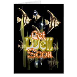 Cartão Obtenha logo o Angelfish bom