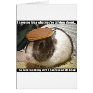 Cartão Obtenha logo o coelho bom
