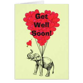 Cartão Obtenha logo o design bom do elefante do