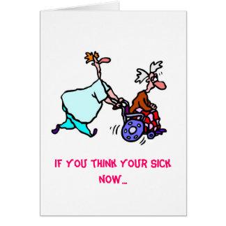 Cartão Obtenha o Bill do poço… do doutor…