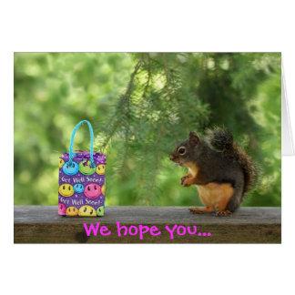 Cartão Obtenha o esquilo bom