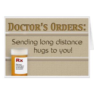 Cartão Obtenha o poço - a Ordem do doutor