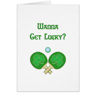 Cartão Obtenha o sibilo afortunado Pong