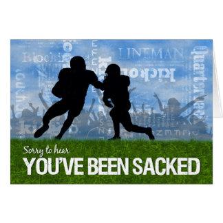 Cartão Obtenha o tema bom do futebol - jogadores no campo
