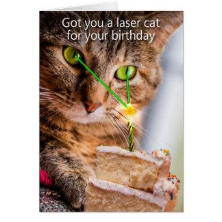 Cartão Obtido lhe um gato do laser para seu aniversário