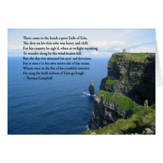 Cartão Oceano irlandês