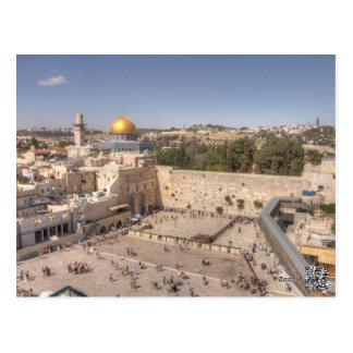 Cartão ocidental de Jerusalem da parede