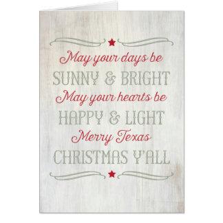 Cartão ocidental do país alegre da canção do Natal