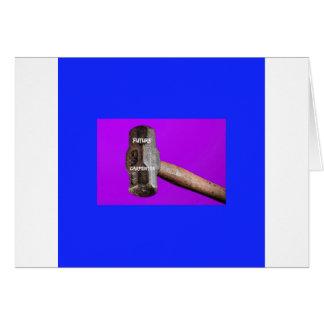 Cartão Ocupações: Design futuro do malho do carpinteiro