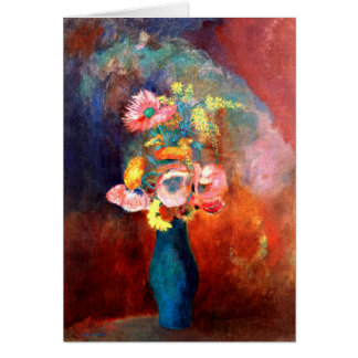 Cartão Odilon Redon - vaso etéreo das flores