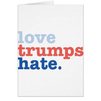 Cartão ódio dos trunfos do amor