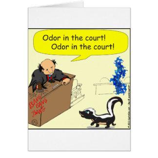Cartão odor 471 nos desenhos animados da corte