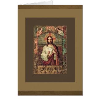 Cartão Oferecimento maciço católico do Eucaristia de
