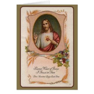 Cartão Oferecimento memorável maciço católico do coração