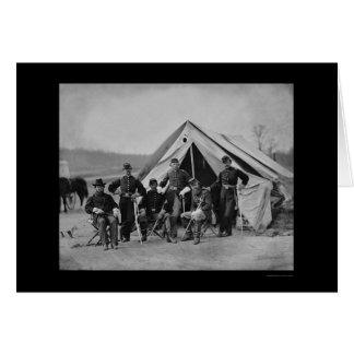 Cartão Oficiais em Gettysburg 1863