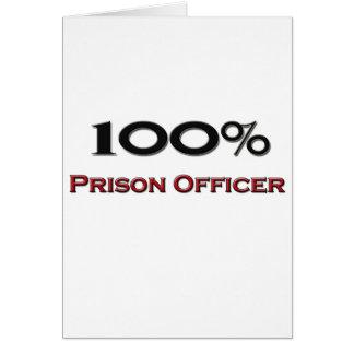 Cartão Oficial de prisão de 100 por cento