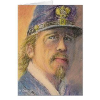 Cartão Oficial do soldado da união da guerra civil