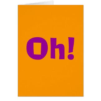 Cartão Oh!