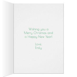 Cartão Oh árvore de Natal