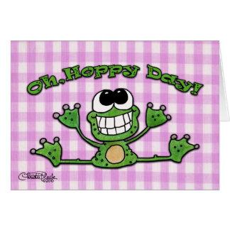 Cartão Oh, Dia-Sapo Hoppy