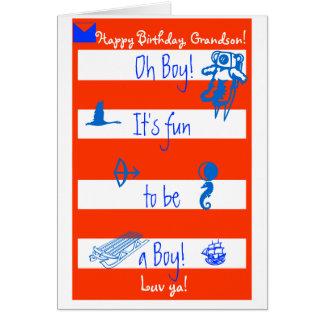Cartão Oh!  É divertimento a ser um menino!  Grands
