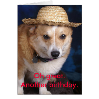 Cartão Oh excelente. Um outro aniversário
