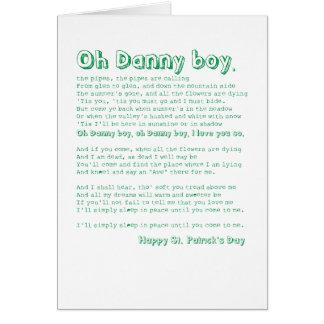 Cartão Oh menino de Danny!