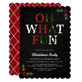 Cartão OH QUE tipografia do Natal do DIVERTIMENTO | &
