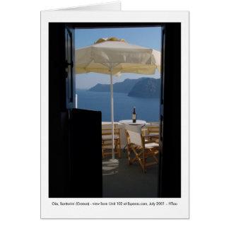 Cartão Oia, Santorini (piscina) -
