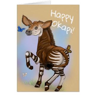 Cartão Okapi feliz!