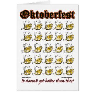Cartão Oktoberfest 25 canecas de cerveja
