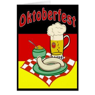 Cartão Oktoberfest Alemanha