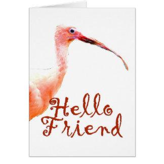 Cartão Olá! amigo