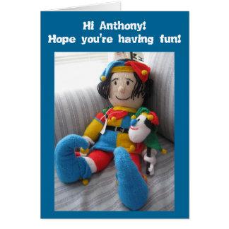 Cartão Olá! Anthony#6