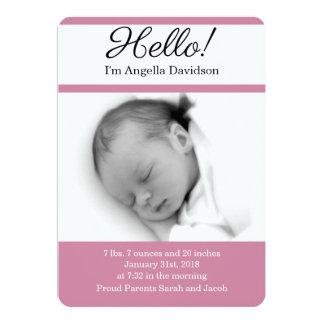 Cartão OLÁ! anúncios do nascimento do bebé