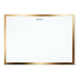 Cartão Olá! beira Notecard do ouro