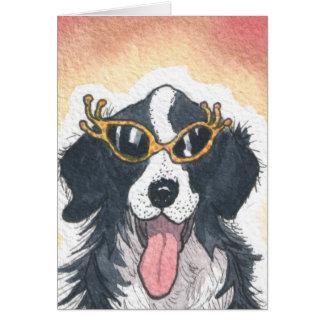 Cartão Olá! filhotes de cachorro!