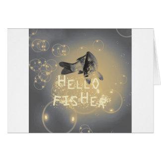Cartão Olá! fisher