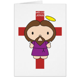 Cartão Olá! Jesus