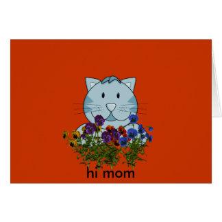 Cartão olá! mamã
