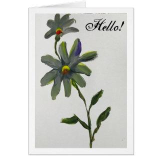 Cartão Olá! margarida