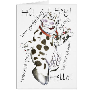 Cartão Olá! nos lotes das maneiras, Hey, olá!, como você